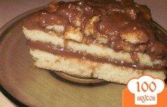 Фото рецепта: «Бисквитный торт с заварным кремом»