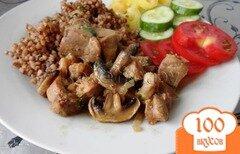 Фото рецепта: «Мясо с грибами»