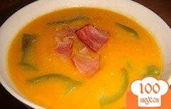 Фото рецепта: «Тыквенный суп с беконом»