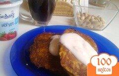 Фото рецепта: «Десертные тыквенные оладьи»