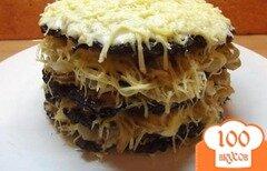 Фото рецепта: «Торт печеночный с сыром»
