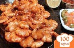 Фото рецепта: «Креветки в кисло-сладком чесночном соусе. Экспресс рецепт.»