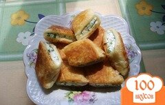 Фото рецепта: «Пирожки с творогом на сковороде»