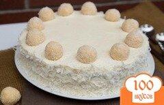 """Фото рецепта: «Торт """"Рафаэлло""""»"""