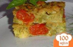 Фото рецепта: «Запеканка с капустой,сыром, зеленым горошком»
