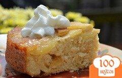 Фото рецепта: «Перевернутый кекс с имбирным яблочным вкусом»