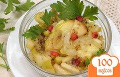 Фото рецепта: «Гарнир из жареного лука и яблок»