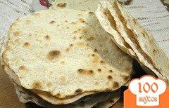 Фото рецепта: «Лепешка из цельнозерновой пшеничной муки - чапати»