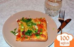Фото рецепта: «Сдобная пицца с ветчиной и колбасой»