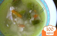 Фото рецепта: «Куриный суп с лоби»