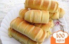 Фото рецепта: «Несладкие булочки с соленым плавленным сыром.»
