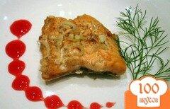Фото рецепта: «Сёмга под клюквенным соусом»