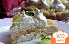 Фото рецепта: «Торт-безе с ананасами и кокосовым заварным кремом»