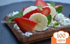 Фото рецепта: «Шоколадные вафли с фруктами»
