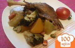 Фото рецепта: «Утка, запеченная с овощами»