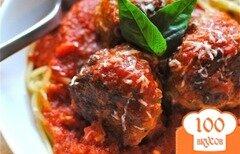 Фото рецепта: «Тефтели из индейки со спагетти»