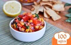 Фото рецепта: «Клубнично-манговая сальса»
