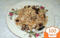 Фото рецепта: «Паэлья с куриными сердечками и черносливом»