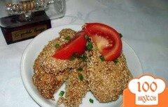 Фото рецепта: «Куриные мясо в кунжуте»