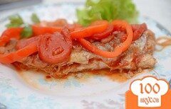 Фото рецепта: «Запеченная рыба под томатным соусом»
