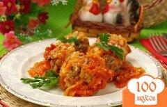 Фото рецепта: «Мясные тефтели с рисом в томатном соусе»