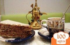 Фото рецепта: «Вафельный тортик с шоколадным кремом»