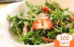 Фото рецепта: «Салат из клубники и рукколы»