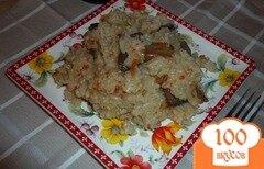 Фото рецепта: «Рис с шампиньонами»