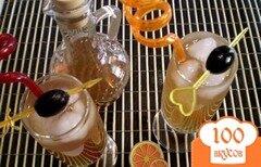 Фото рецепта: «Коктейль из вермута, коньяка и сока»