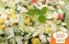 Фото рецепта: «Крабовый салат с пекинской капустой»