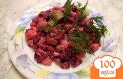 Фото рецепта: «Овощной салат с шампиньонами»