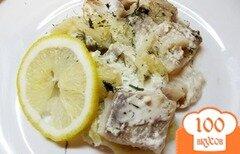 Фото рецепта: «Филе запеченное в лимонно-сметанном соусе»