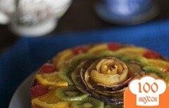 Фото рецепта: «Фруктовый торт со сливками и желе»