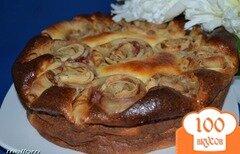 Фото рецепта: «Пирог творожный с блинами»