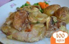 Фото рецепта: «Свиные котлеты с вином Марсала и грибами»
