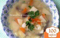 Фото рецепта: «Суп с кальмаром и фасолью»