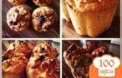 Фото рецепта: «Рисовые кексы с грушей»