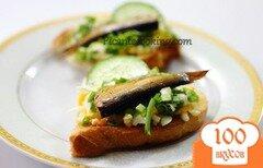 Фото рецепта: «Ностальгический бутерброд со шпротами»