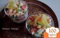 Фото рецепта: «Салат из свежих овощей и гороха нут»