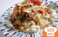 Фото рецепта: «Салат с макаронами и курицей»