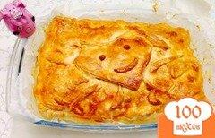 Фото рецепта: «Грушевый слоеный пирог»