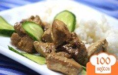 Фото рецепта: «Куриное филе с кунжутом и имбирем»