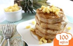 Фото рецепта: «Блины с ананасами»