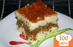 Фото рецепта: «Запеканка рисовая с мясом»