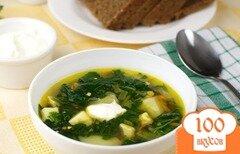 Фото рецепта: «Зеленый борщ с крапивой»