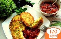 Фото рецепта: «Сырники с кабачками и зеленью»