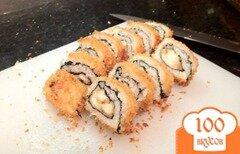 Фото рецепта: «Суши с курицей и сыром»