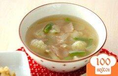 Фото рецепта: «Суп из цветной капусты с ветчиной»