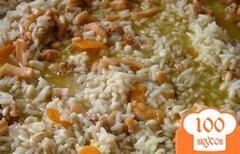 Фото рецепта: «Паэлья из риса и перловки с морепродуктами»