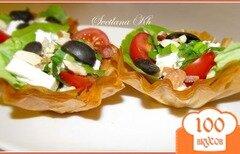 Фото рецепта: «Салат в корзинках из теста юфка (фило)»